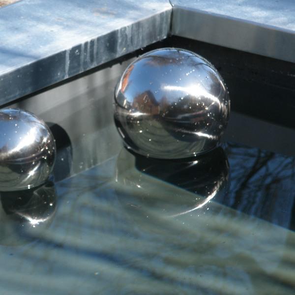 Heksenbol 9 cm Zilver-754