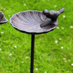 Tuinsteker Vogelbad Schelp Bruin-0