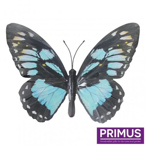 Muurdecoratie vlinder blauw