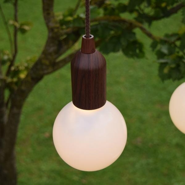 LED Lamp Donkerbruin