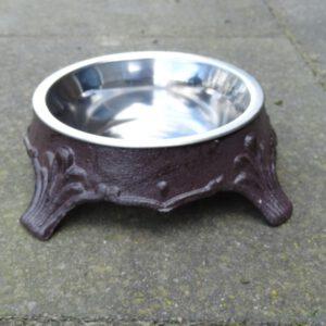 Voerbak hond of kat klein van gietijzer-0